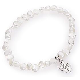 Bracciale AMEN perle di fiume irregolari argento 925 s1
