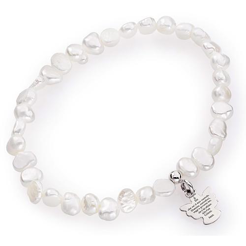 Bracciale AMEN perle di fiume irregolari argento 925 1