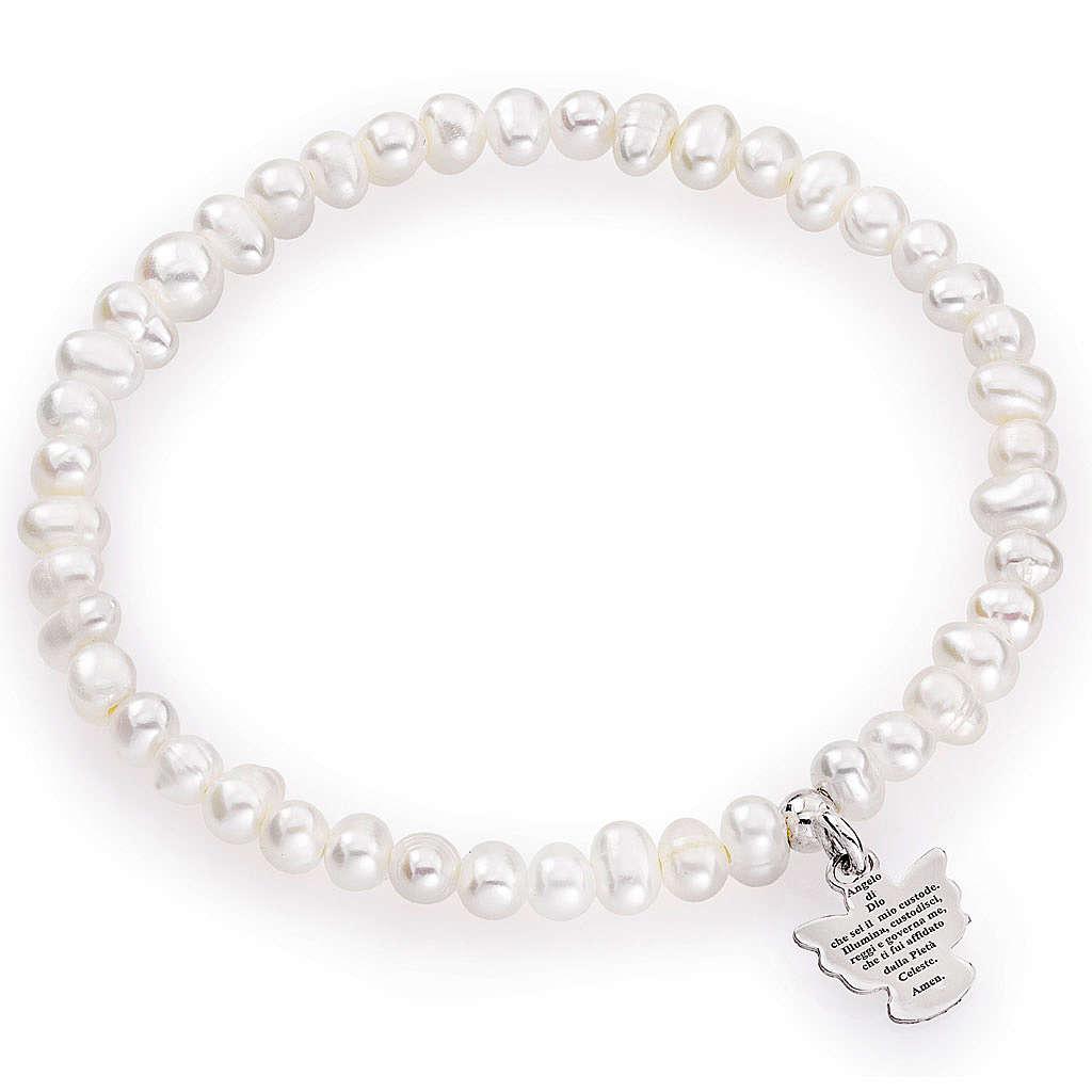 Bracciale AMEN perle tonde argento 925 4/5 mm 4
