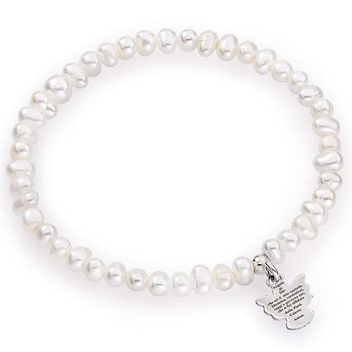 Bracciale AMEN perle tonde argento 925 4/5 mm 1