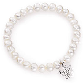 Bracciale AMEN perle tonde argento 925 6/7 mm s1