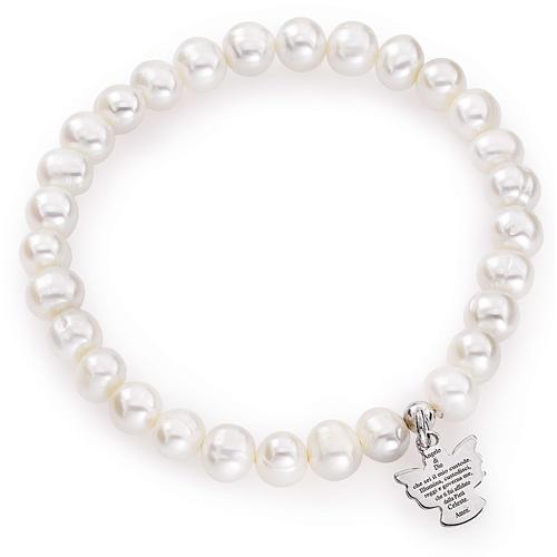 Bracciale AMEN perle tonde argento 925 6/7 mm 1