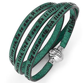 Bracelet Amen Je t'aime dans toutes les langues vert s1