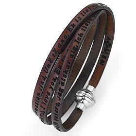 AMEN bracelets: Amen bracelet I love you, brown