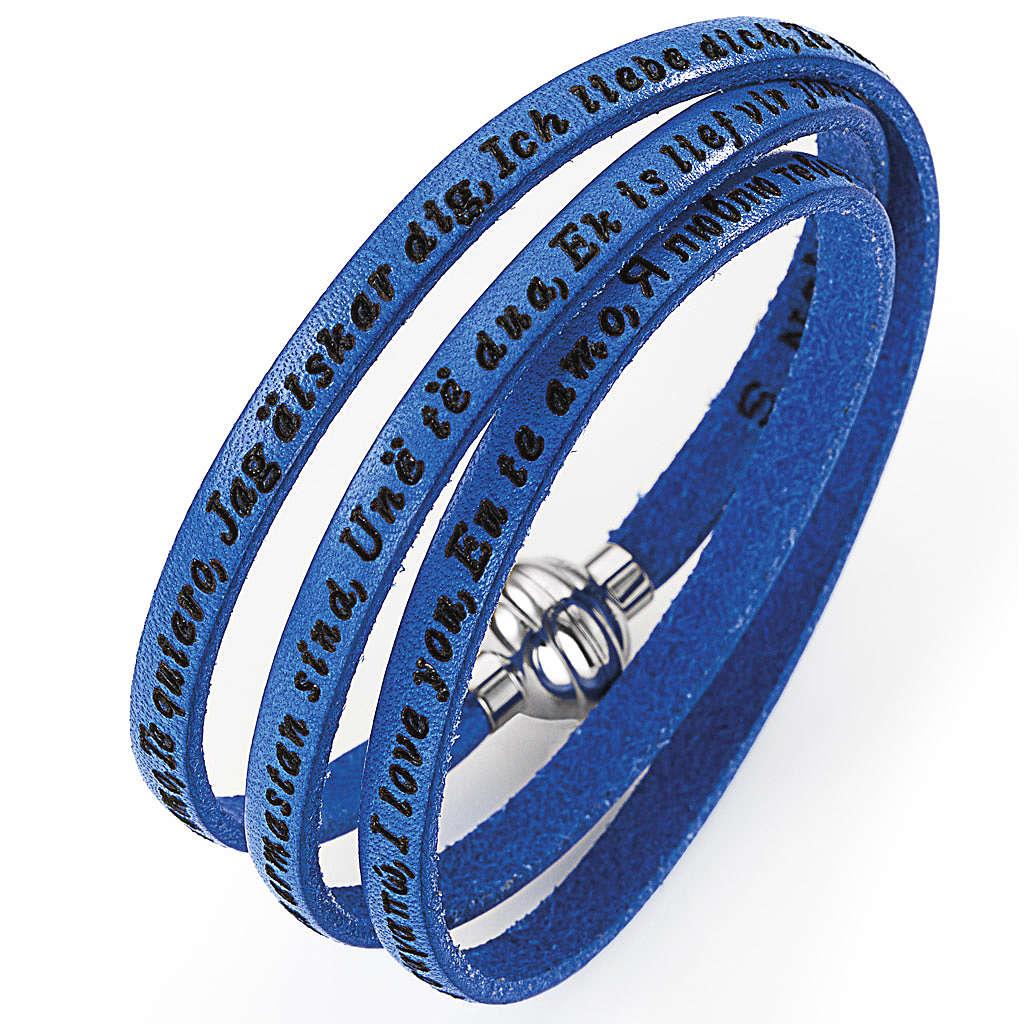 Amen bracelet I love you, blue 4