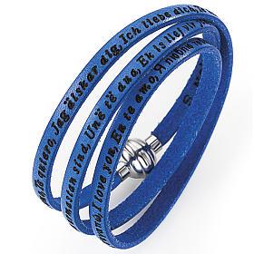 AMEN bracelets: Amen bracelet I love you, blue