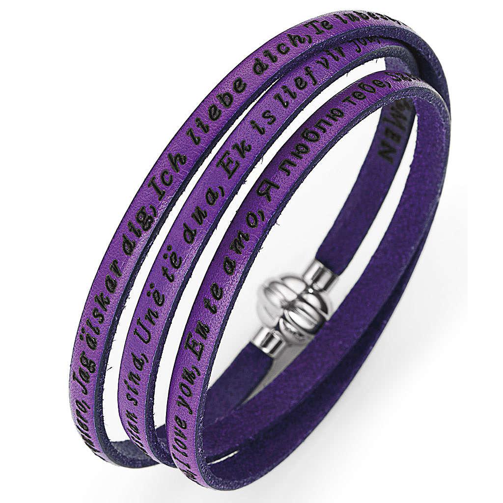 Amen bracelet I love you, Violet 4