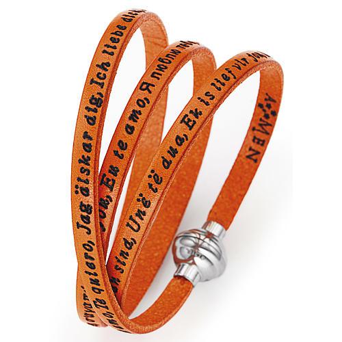 Bracciale AMEN Ti amo tutte le lingue Arancione 1