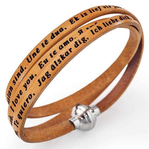 Bracelet Amen Je t'aime toutes les langues chameau 1