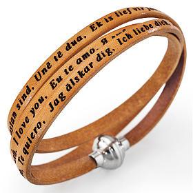 AMEN bracelets: Amen bracelet I love you, tan colour