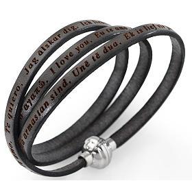 AMEN bracelets: Amen bracelet I love you, mud colour with charm