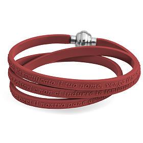 AMEN bracelets: Amen bracelet, Our Father in Italian, brown rubber