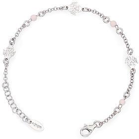 Bracelets AMEN: Bracelet AMEN Ange avec petites perles roses Argent 925