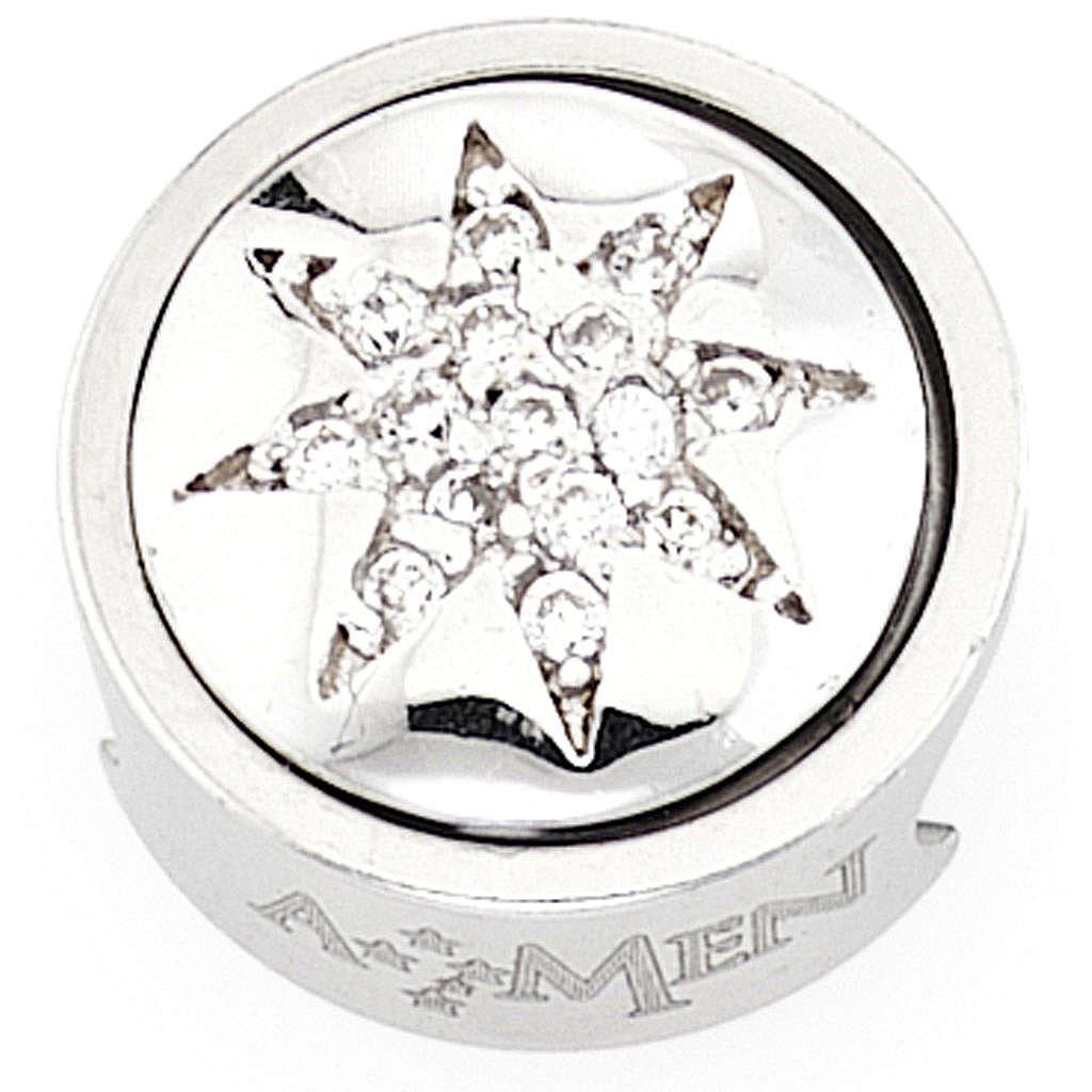 Charm pour bracelet AMEN étoile 8 pointes Vierge Marie 4