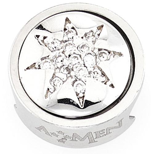Charm pour bracelet AMEN étoile 8 pointes Vierge Marie 1