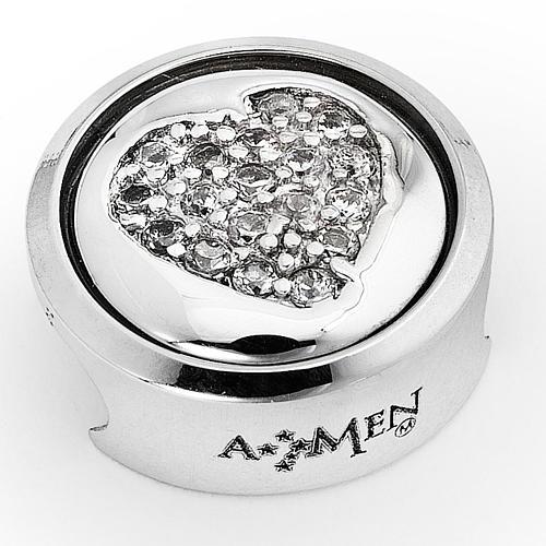 Charm for Amen bracelet, Heart, I Love You 1