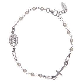 STOCK Bracelet AMEN Rosary Jubilee silver 925 Swarovski, Rhodium finish s2