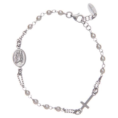 STOCK Bracelet AMEN Rosary Jubilee silver 925 Swarovski, Rhodium finish 2