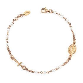 STOCK Bracelet AMEN Rosary Jubilee silver 925 Swarovski, Rosè finish s1