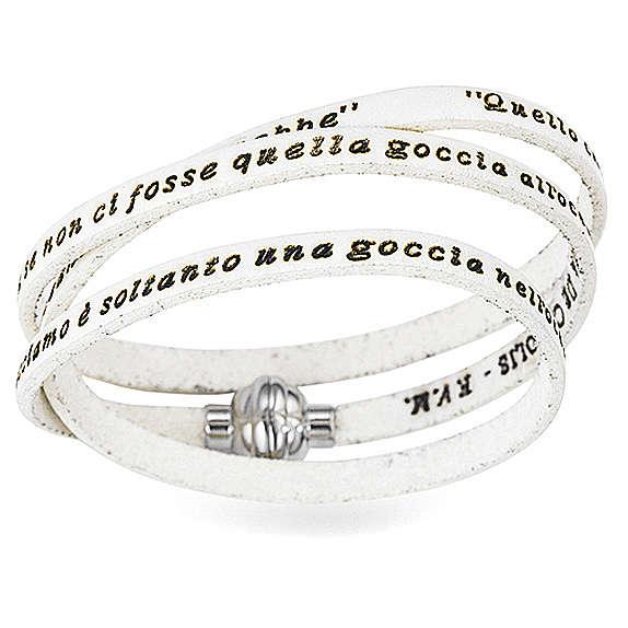 AMEN Bracelet Mother Teresa phrase ITALIAN, white 4