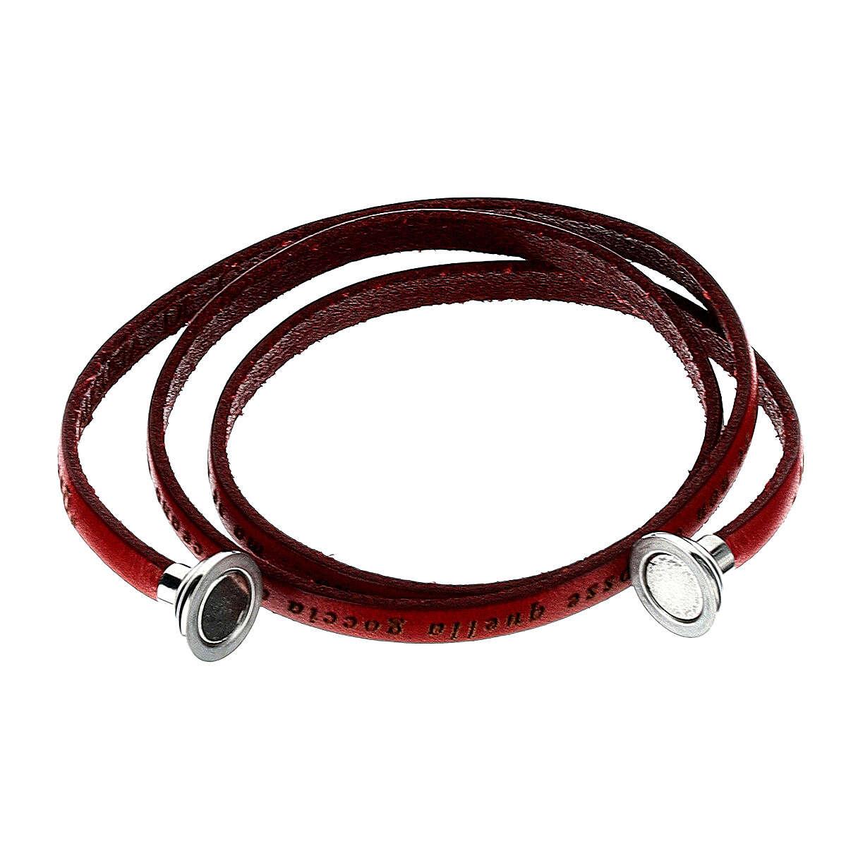 AMEN Bracelet Mother Teresa phrase ITALIAN, red 4