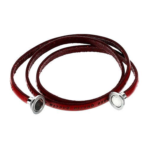 AMEN Bracelet Mother Teresa phrase ITALIAN, red 2
