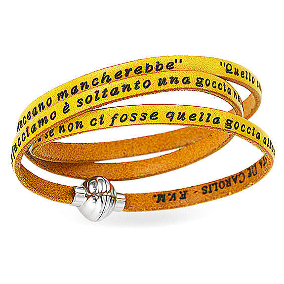 AMEN Bracelet Mother Teresa phrase ITALIAN, yellow 4
