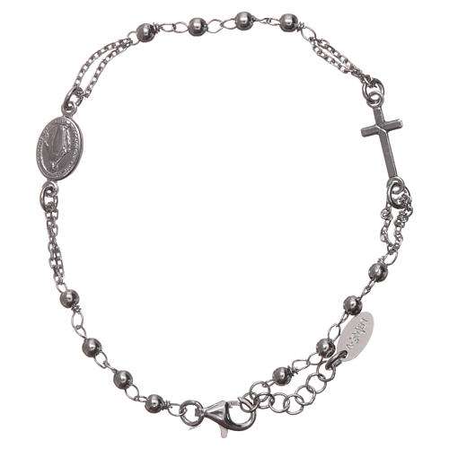 Rosary AMEN Bracelet rhodium-plated silver 925 1