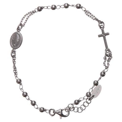 Bracelet chapelet AMEN argent 925 fin. rhodium 1