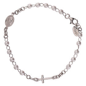 Rosary AMEN Bracelet with silver 925 beads, Rhodium finish s2