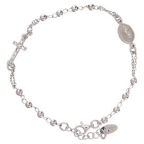 Rosary AMEN Bracelet Pavè Cross silver 925, Rhodium finish s1