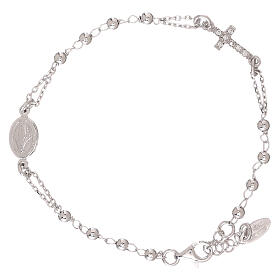 Rosary AMEN Bracelet Pavè Cross silver 925, Rhodium finish s2