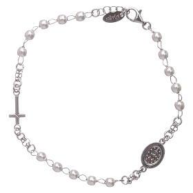 Bracelet chapelet AMEN Miraculeuse perles argent 925 fin. rhodium s2