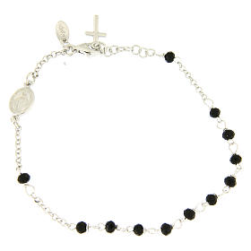 AMEN bracelets: Rosary AMEN Bracelet Charm Cross silver 925 crystals, Rhodium finish
