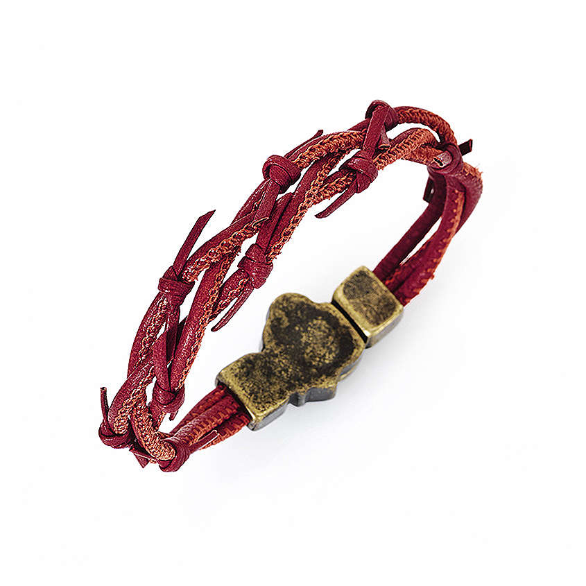 Passion bracelet red braided leather AMEN 4