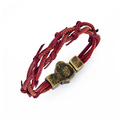 Passion bracelet red braided leather AMEN 1