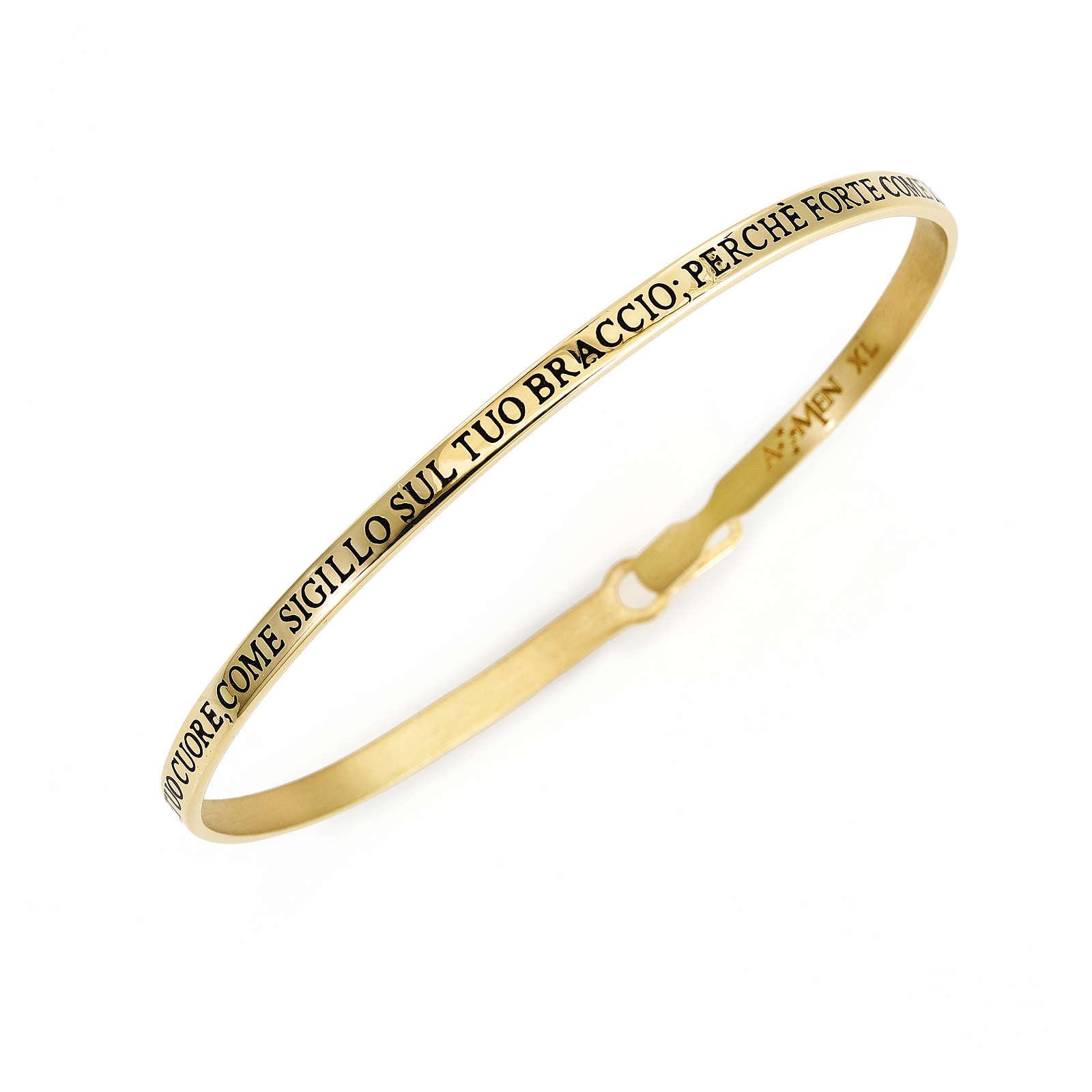 Song of Songs Bangle Bracelet , gold finish, AMEN 4