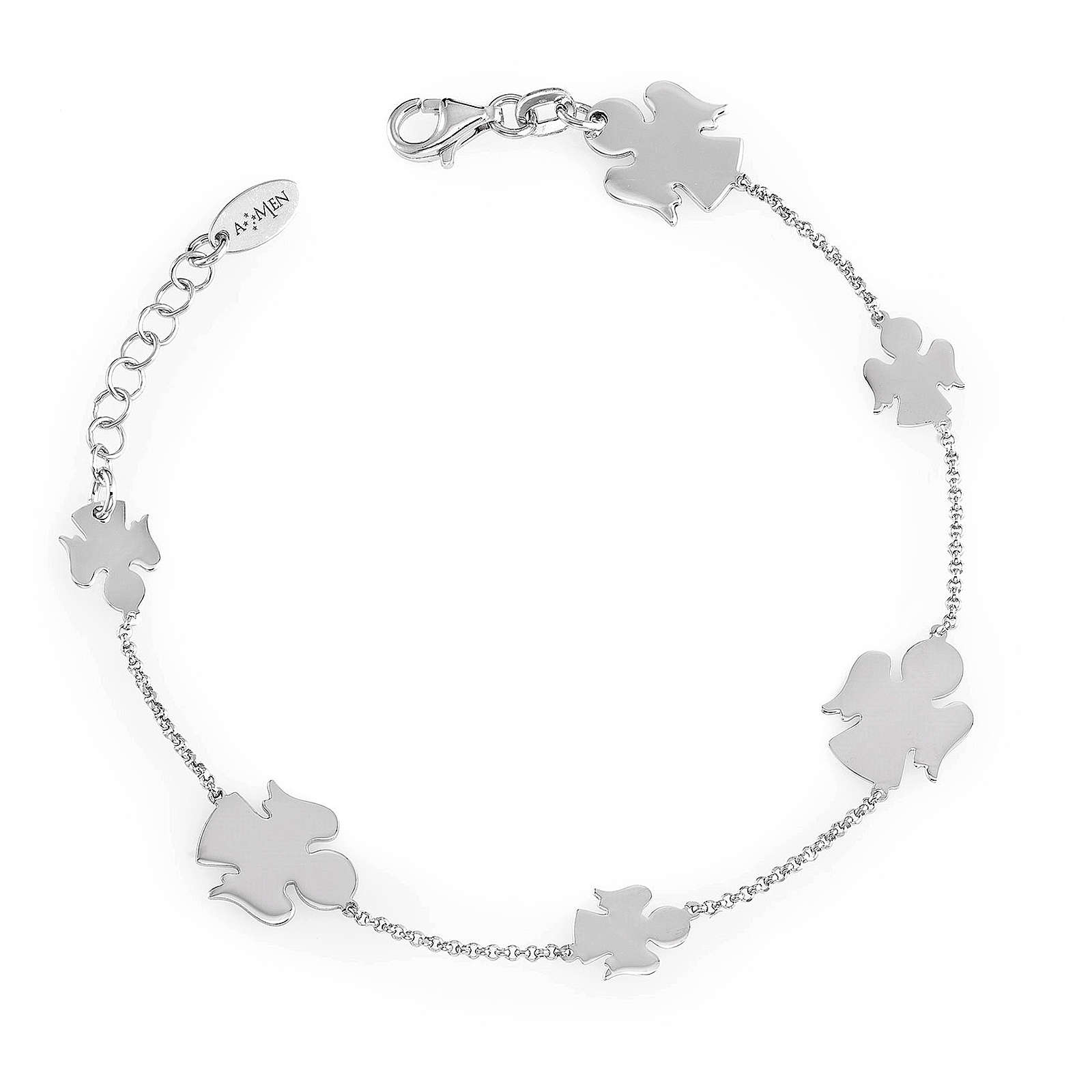Bracelet AMEN with Angels silver 925 Rhodium finish 4