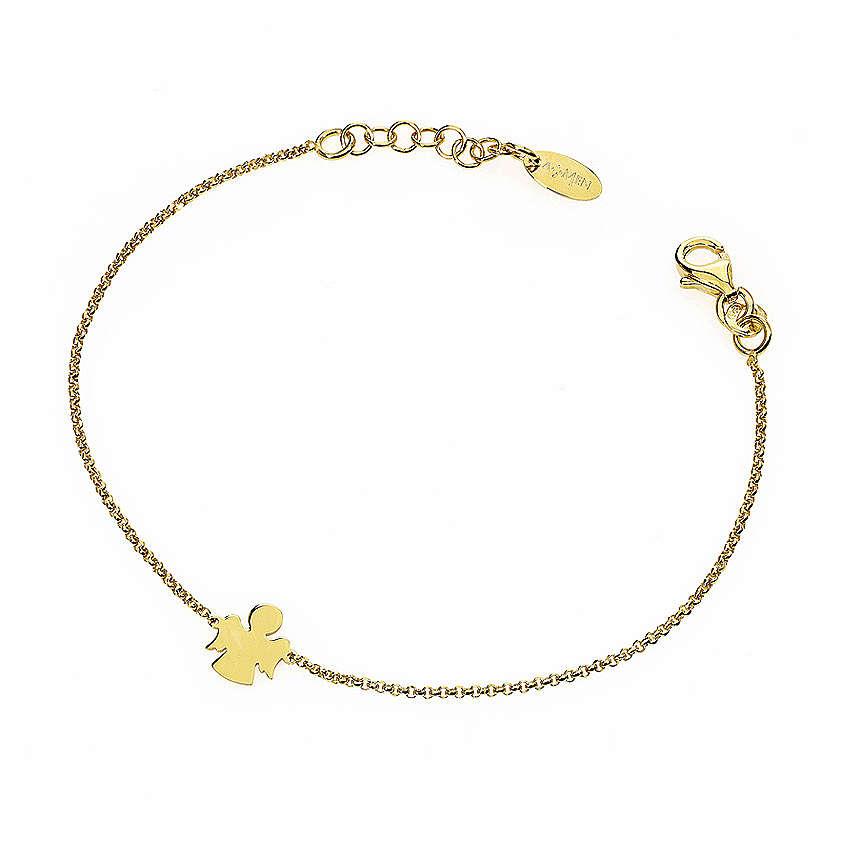 Bracelet AMEN Ange argent 925 fin. or 4