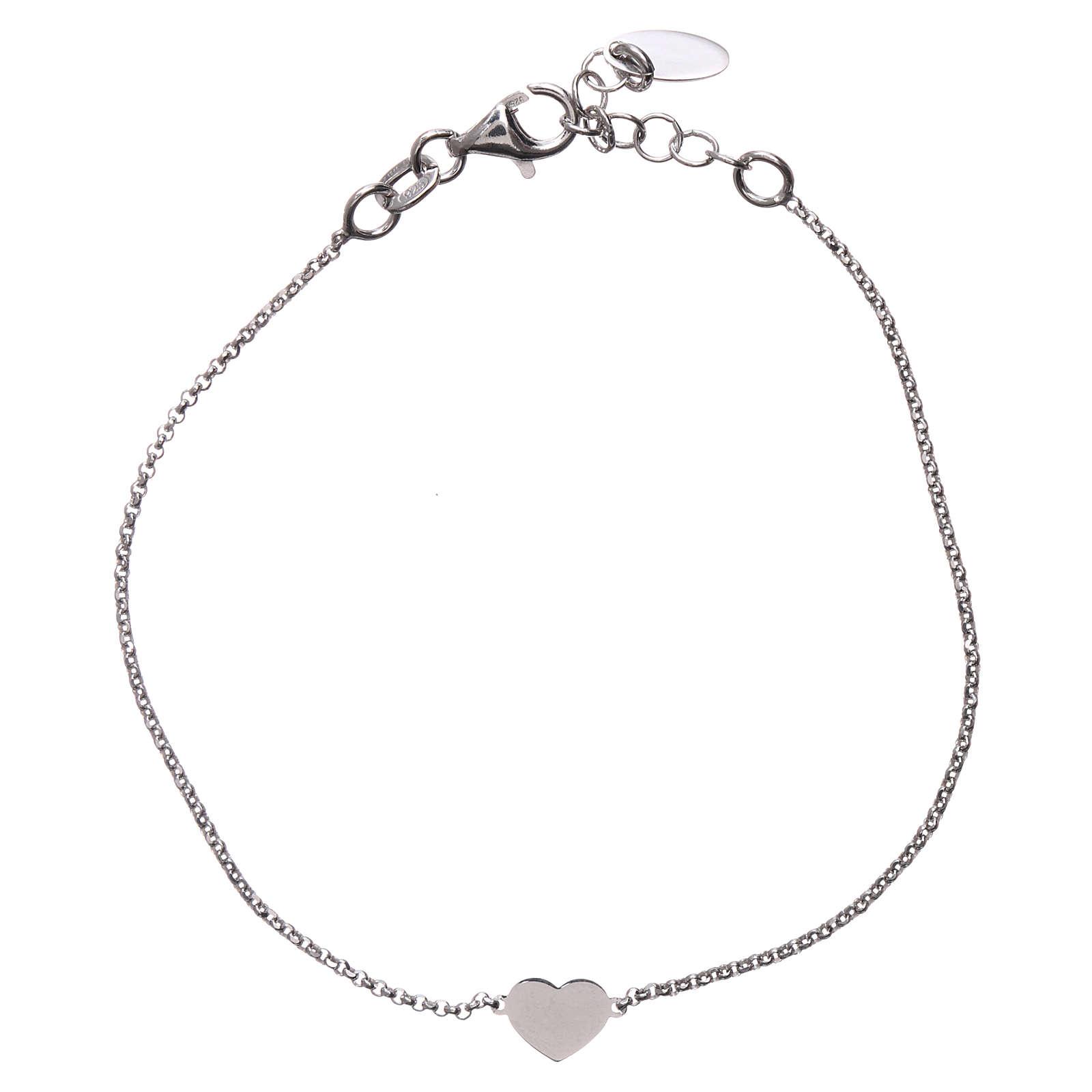 Bracelet AMEN avec coeur argent 925 fin. rhodium 4