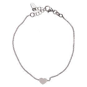 Bracelet AMEN avec coeur argent 925 fin. rhodium s1