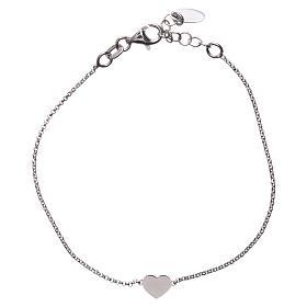 Bracelet AMEN avec coeur argent 925 fin. rhodium s2