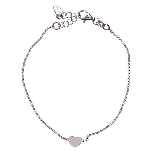 Bracelet AMEN avec coeur argent 925 fin. rhodium 1