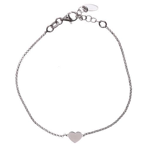 Bracelet AMEN avec coeur argent 925 fin. rhodium 2