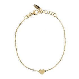 Bracelet AMEN coeur argent 925 fin. or s1
