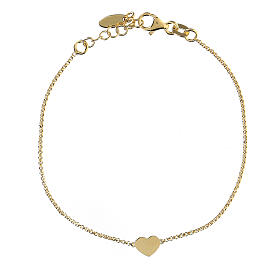 Bracelet AMEN coeur argent 925 fin. or s2