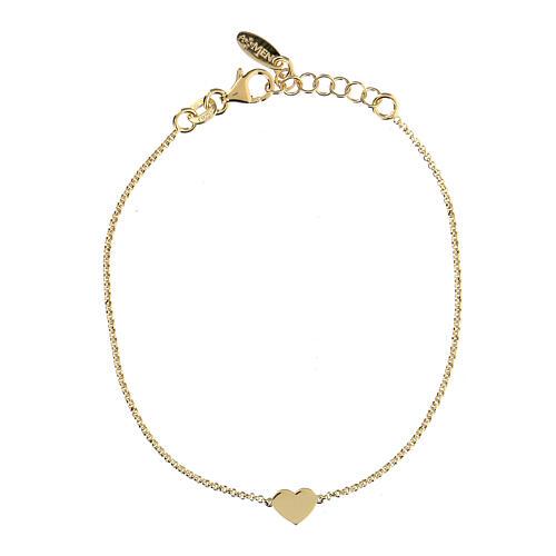 Bracelet AMEN coeur argent 925 fin. or 1