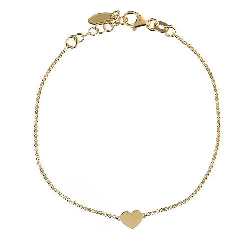 Bracelet AMEN coeur argent 925 fin. or 2
