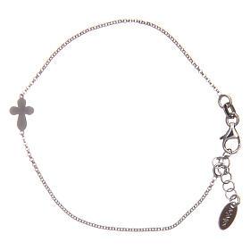AMEN bracelets: AMEN Bracelet rounded Cross silver 925 Rhodium finish