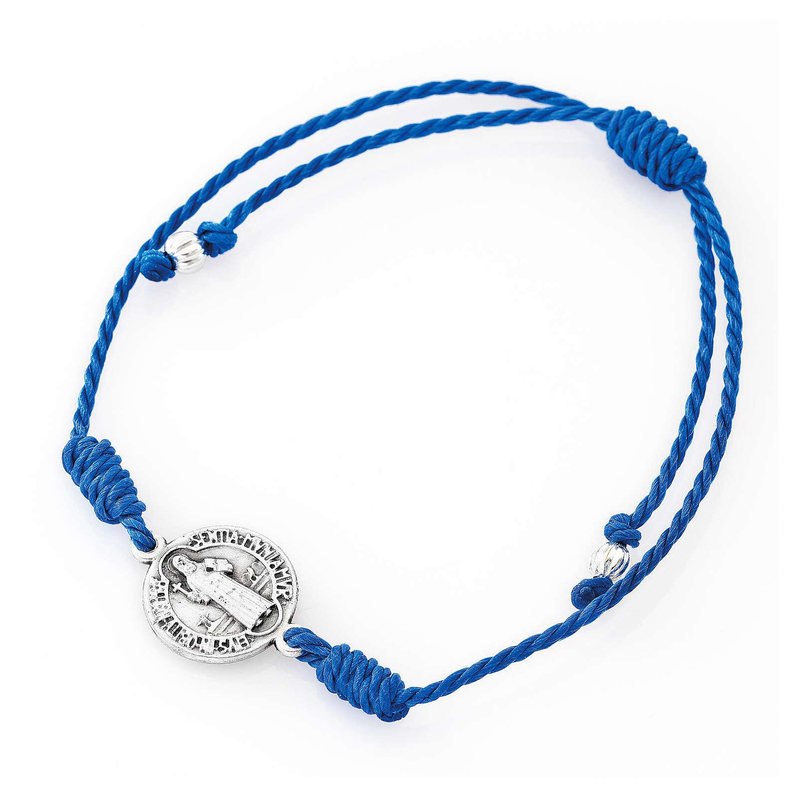 Saint Benedict AMEN blue bracelet 4